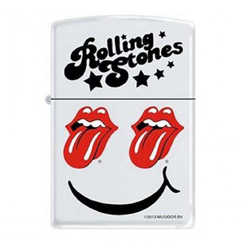 Encendedor Zippo Stamp Rolling Stones 214CI012702 - Blanco
