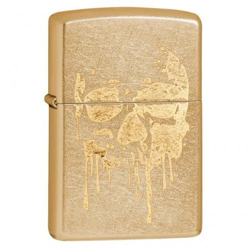 Encendedor Zippo Stamp Skull Lasser Gold Dusk Zippo 29401 - Dorado