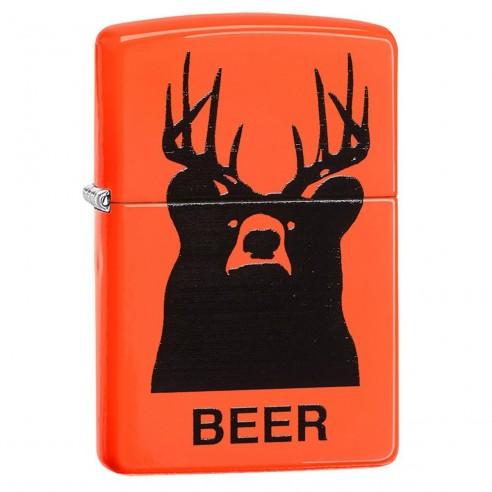 Encendedor Zippo Stamp Neon Orange Beer 29343 - Naranja