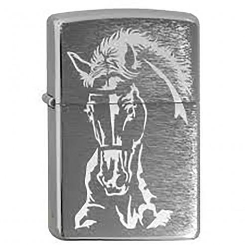 Encendedor Zippo Texture Horse Caballo 24456 - Plateado
