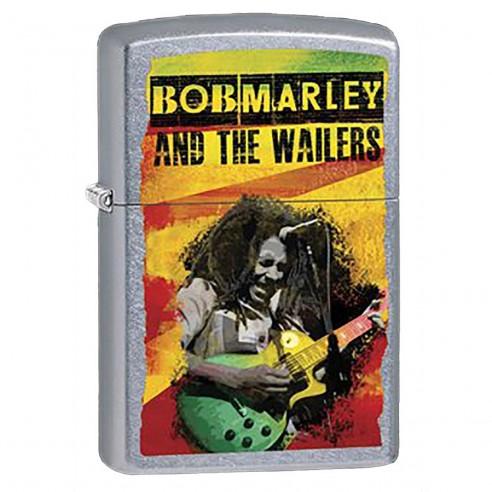 Encendedor Zippo Stamp Bob Marley Con Guitarra 207ci001040 Negro