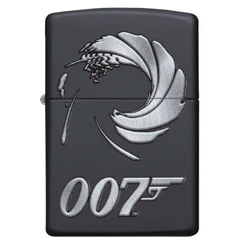 Encendedor Zippo Stamp james bond 007 29566 - negro mate