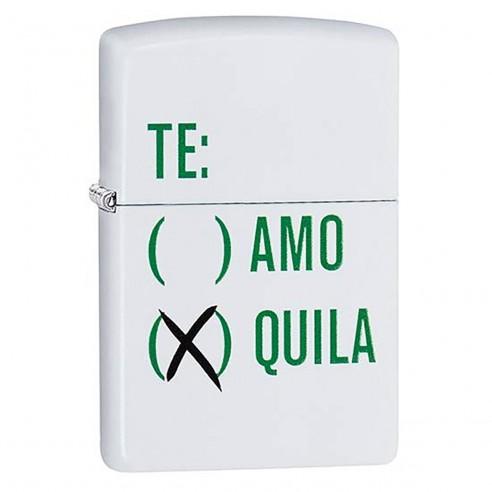 Encendedor Zippo Stamp Tequila 29617 - Blanco Mate