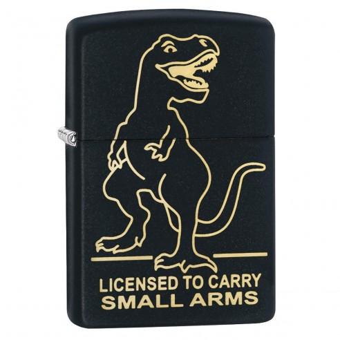 Encendedor Zippo Stamp Dinosaurio 29629 - Negro Mate