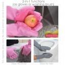 Guantes de Silicona Cepillo para Lavar loza, baño, aseo
