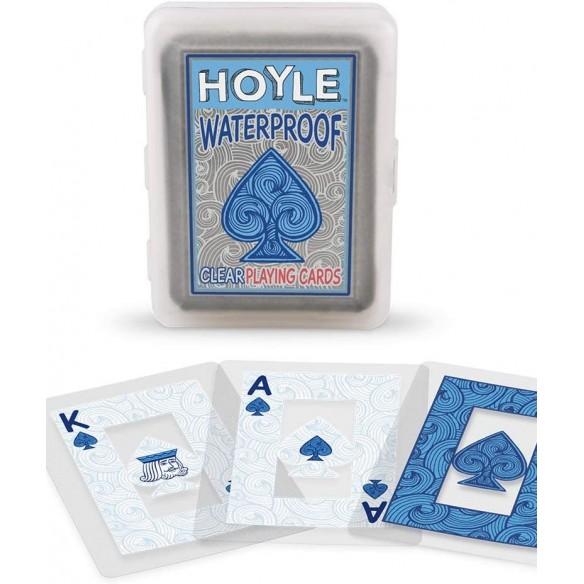 Juego de Cartas Naipes Hoyle de plástico transparente