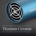Secador Remington D2042 Azul Turquesa Cabello Titanium Ceramic
