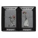 Encendedor Zippo Stamp Spazuk Máscara 29646 - Blanco