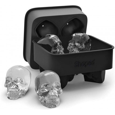 Molde de silicona para hacer 4 calaveras de hielo Skull