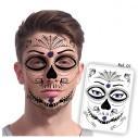 Tatuaje temporal Máscara Dia de los Muertos Roses