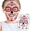 Tatuaje temporal Máscara Dia de los Muertos Calavera