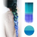 Extensiones Cosplay Lisa tipo Cortina de cabello en degradee