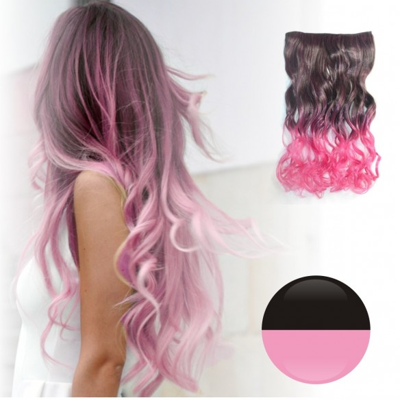 Extensiones Cosplay Ondulada Cortina de cabello en degradee
