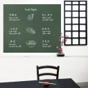 Pizarra sticker negra de decoración + Tizas