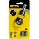 Stanley Destornillador con Rack 66-358 Stuby Ratcheting multi 6 puntas