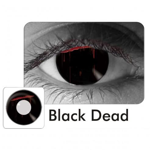 Lentes Crazy Black Dead Sangre Ojo Puñal