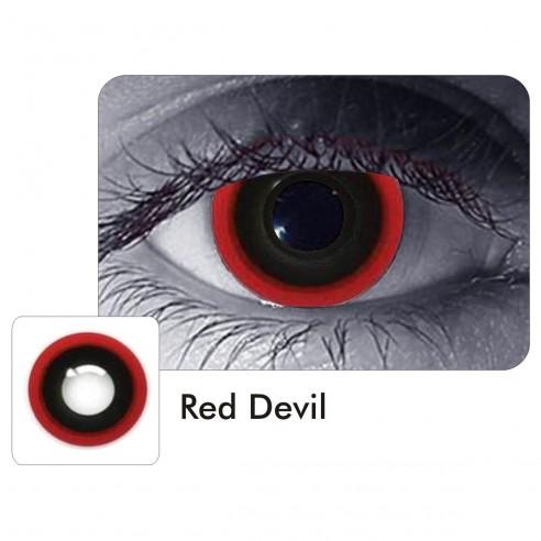 Lentes Halloween Crazy Hell Raiser Red Devil Demon