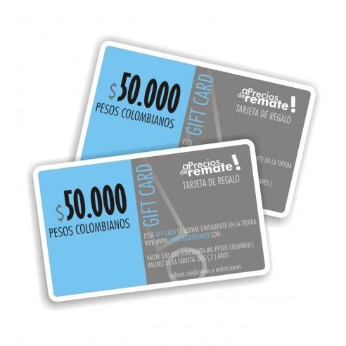 Tarjeta de Regalo 50.000 pesos, Gift Card El obsequio perfecto