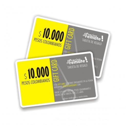 Tarjeta de Regalo 10.000 pesos, Gift Card El obsequio perfecto