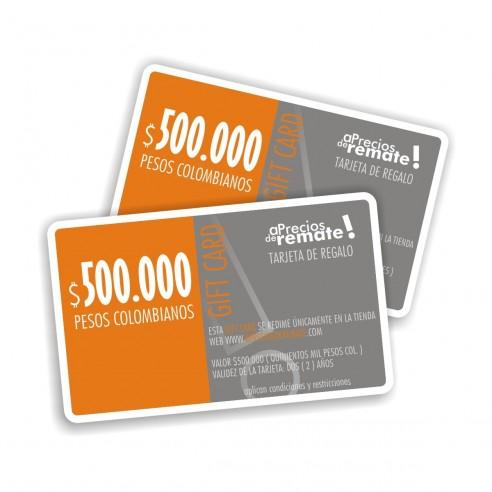Tarjeta de Regalo 500.000 pesos, Gift Card El obsequio perfecto