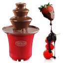 Mini Fuente de Chocolate Nostalgia 3 Niveles Fondue fresas y masmelos en fiestas