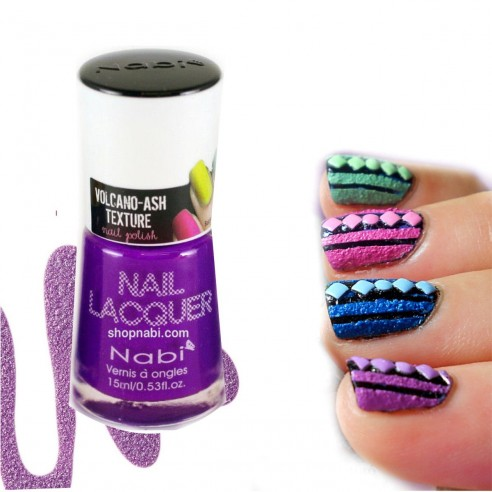 Esmalte Nabi textura Volcano-Ash Texture Arena y Efecto granulado para tus uñas