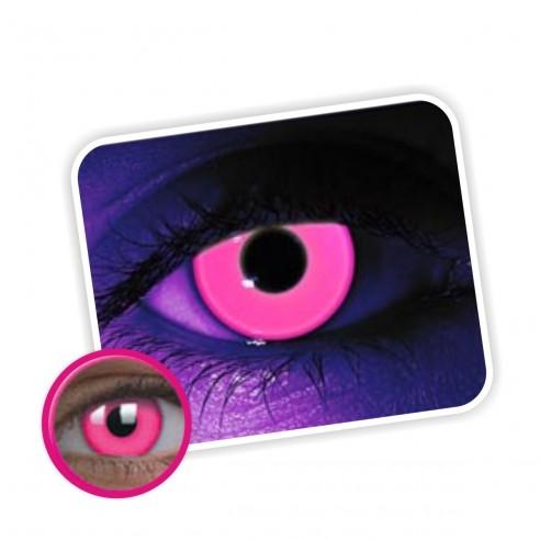 Lentes de contacto de Neón Magic Flash Brilla en la Disco Pink