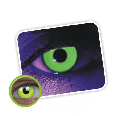 Lentes contacto UV Glow Crazy Neón Magic Verde
