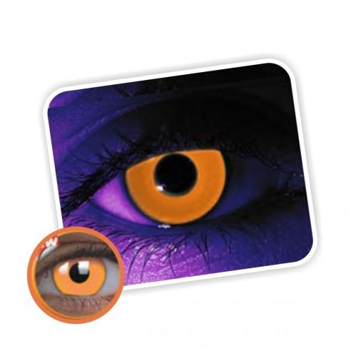 Lentes de contacto Naranja de Neón Magic Flash Brilla en la Disco Orange