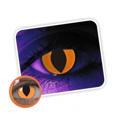 Lentes de contacto de Neón Magic Flash Brilla en la Disco Cat orange