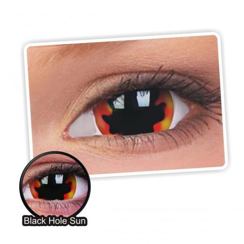 Lentes de contacto Mini Sclera Lens Crazy, Black Hole Sun, Lentes Halloween y Efectos de Cine Hueco Negro Solar