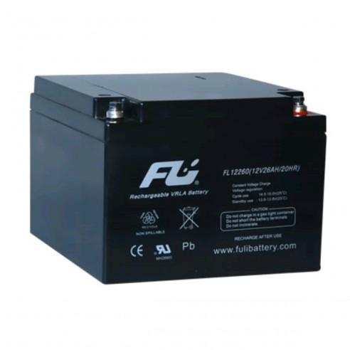 Batería Sellada FuliBattery 12V-26AH Ref. FL12260GS