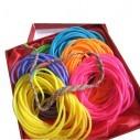 Gummy bands Kit de 6 Pulseras Neón brillan con luz UV ideal fiesta glow