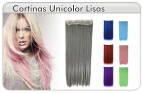 Extensión de Cabello Lisa Unicolor